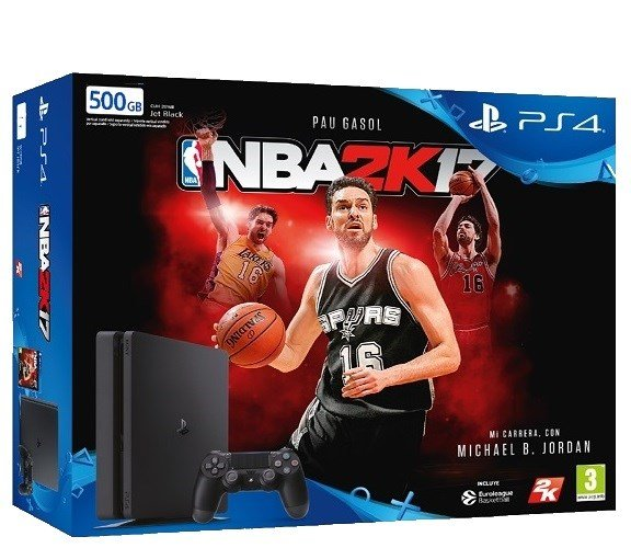 PS4 500GB S + NBA 2K17