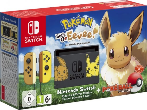Nintendo Switch Lets Go Eevee + Poke Ball Plus!