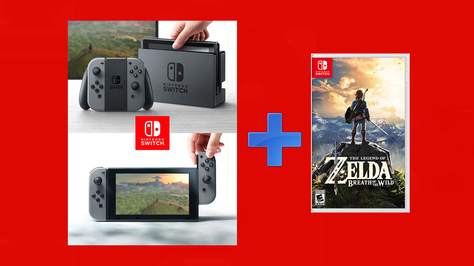 Nintendo Switch + Zelda Breath Of The Wild