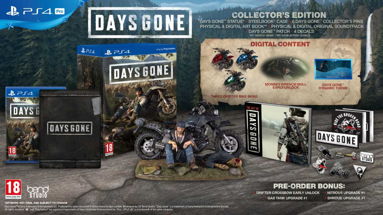 PS4 - Days Gone Collectors Edition
