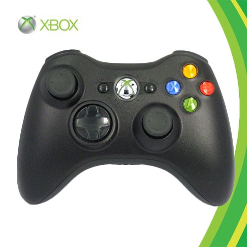 XBOX 360- BLACK WIRELESS CONTROLLER