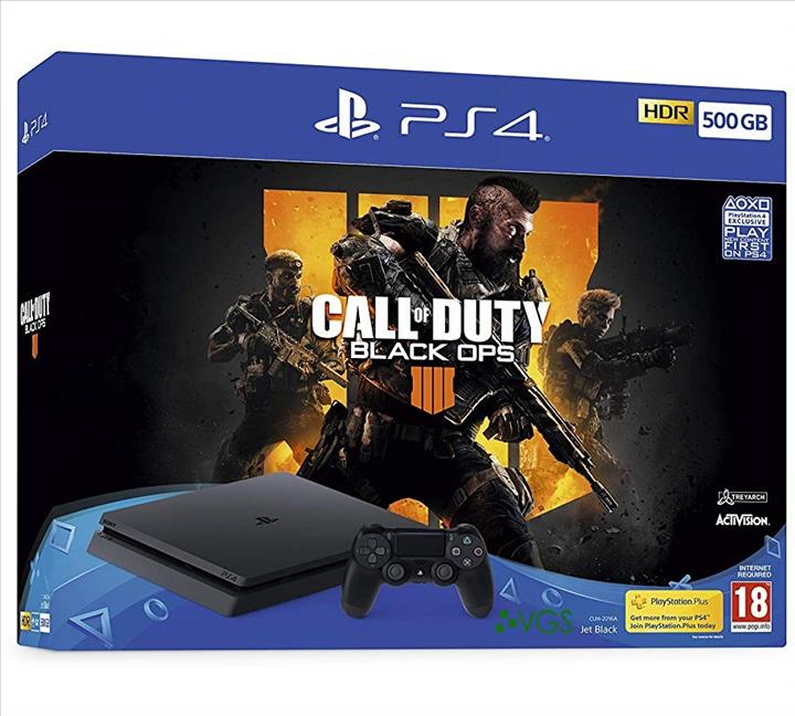 קונסולת PS4 SLIM 500GB CALL OF DUTY BLACK OPS 4 BUNDLE