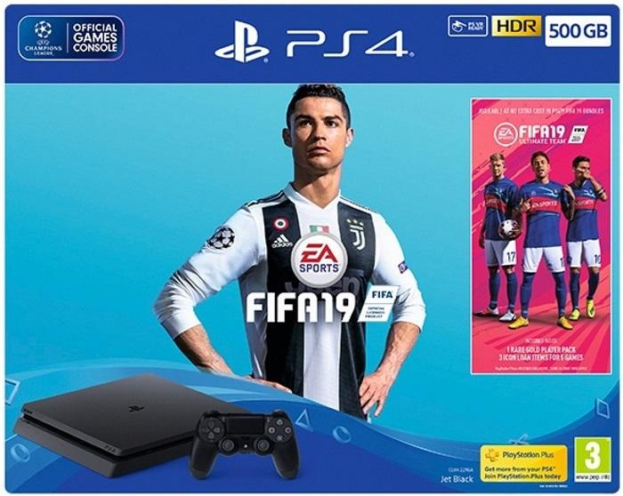 קונסולת PS4 SLIM 500GB FIFA19 BUNDLE